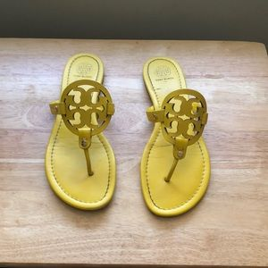 Tory Burch Shoes - Tory Burch Miller Leather Flip Flop Sandals